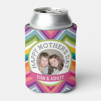 幸せな母の日-カスタムな写真テンプレート 缶クーラー
