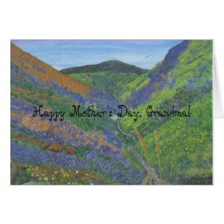 幸せな母の日、祖母 カード