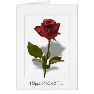 幸せな母の日-赤いバラ カード