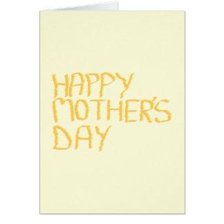幸せな母の日。 黄色 カード