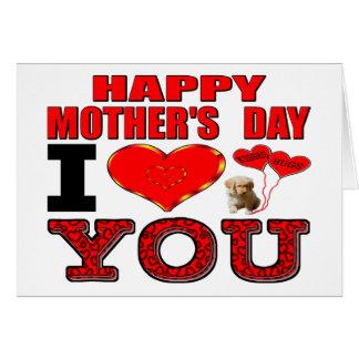 幸せな母の日I愛 カード