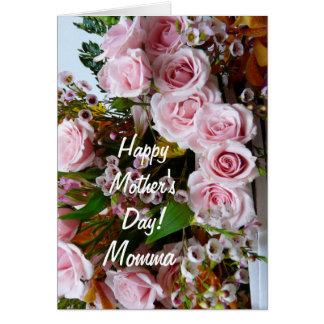 幸せな母日Momma/のピンクのバラ カード