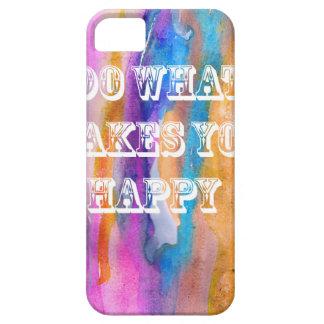 幸せな水彩画のデザインをするものがして下さい iPhone SE/5/5s ケース