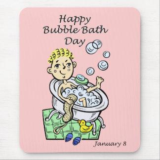 幸せな泡風呂日1月8日 マウスパッド
