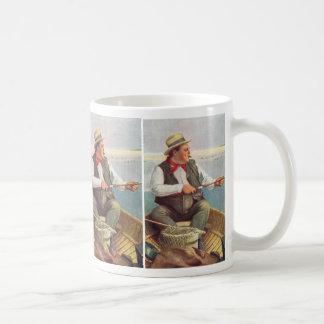 幸せな漁師 コーヒーマグカップ