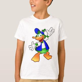 幸せな漫画のアヒル Tシャツ