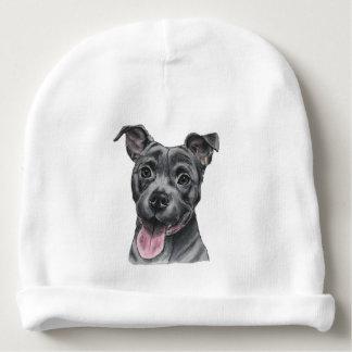 幸せな灰色のピット・ブル犬のスケッチ ベビービーニー