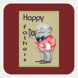 幸せな父の日のウェイター スクエアシール