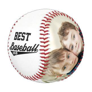 幸せな父の日のカスタムな家族写真の野球 野球ボール