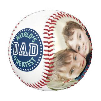 幸せな父の日のカスタムな家族写真 野球ボール