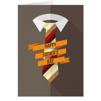 幸せな父の日のタイ カード