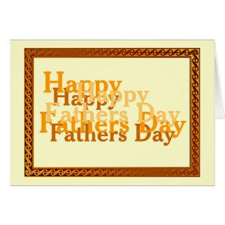 幸せな父の日の挨拶状 カード