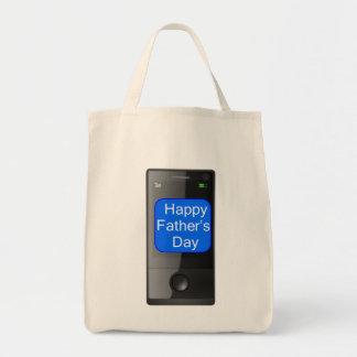 幸せな父の日の携帯電話 トートバッグ