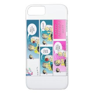 幸せな父の日の漫画 iPhone 8/7ケース
