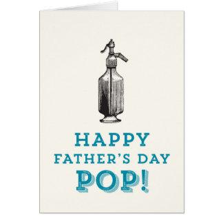 幸せな父の日の破裂音! グリーティングカード