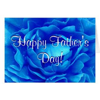 幸せな父の日の青のバラ グリーティングカード