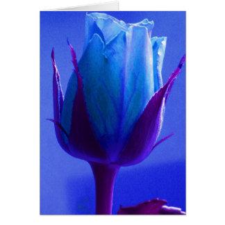 幸せな父の日の青のバラII グリーティングカード