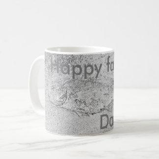 幸せな父の日の魚の化石 コーヒーマグカップ