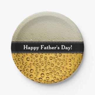 幸せな父の日! あらゆるビール休日にカスタマイズ ペーパープレート