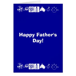 幸せな父の日! カード