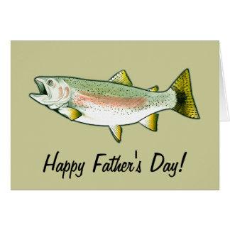 幸せな父の日: ニジマス グリーティングカード
