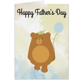 幸せな父の日-パパくまカード カード