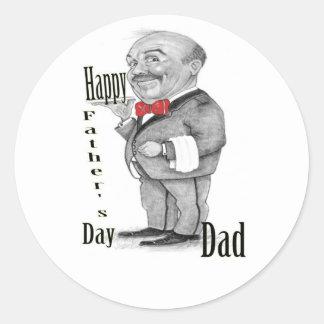 幸せな父の日 ラウンドシール