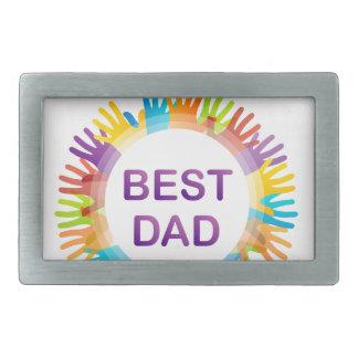 幸せな父の日 長方形ベルトバックル