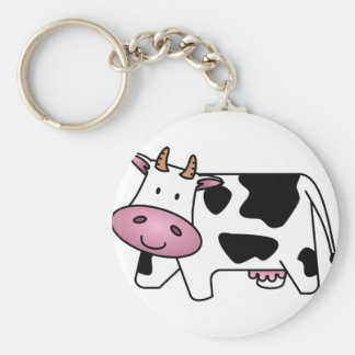 幸せな牛 キーホルダー