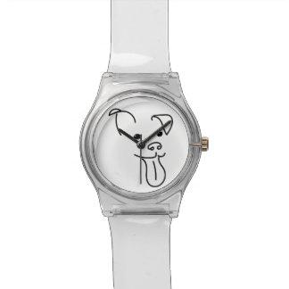幸せな犬の顔の腕時計 腕時計
