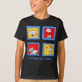 幸せな犬服装 Tシャツ