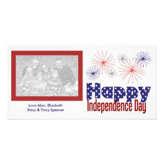 幸せな独立記念日の写真カード カード