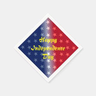 幸せな独立記念日 スタンダードカクテルナプキン