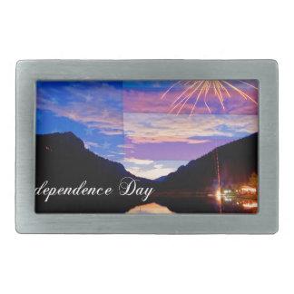 幸せな独立記念日 長方形ベルトバックル