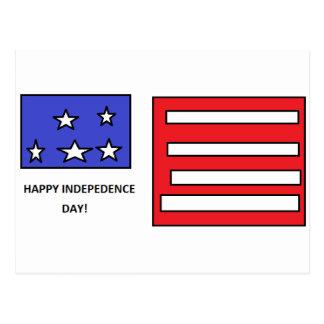 幸せな独立記念日- 7月の第4 ポストカード