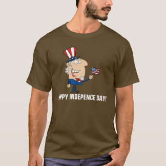 幸せな独立記念日 Tシャツ
