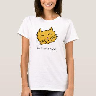 幸せな猫のワイシャツ Tシャツ