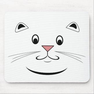 幸せな猫の顔のマウスパッド マウスパッド
