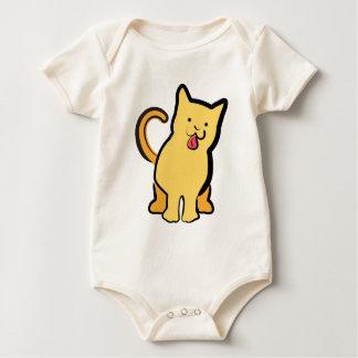 幸せな猫 ベビーボディスーツ