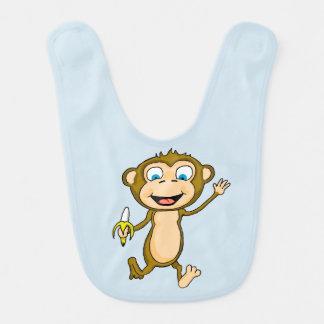 幸せな猿のベビー用ビブ ベビービブ