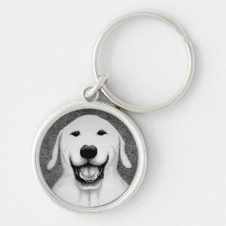 幸せな男の子の小犬Keychain キーホルダー