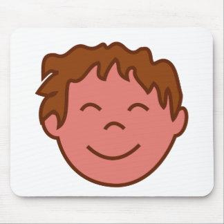 幸せな男の子の顔 マウスパッド