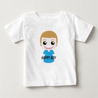 幸せな男の子 ベビーTシャツ