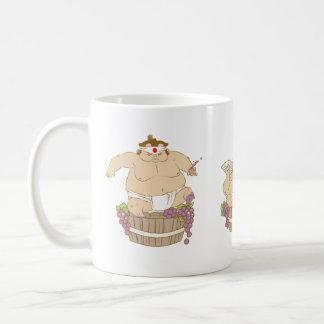 幸せな相撲のマグ コーヒーマグカップ