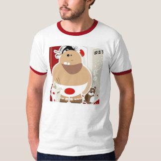 幸せな相撲 Tシャツ