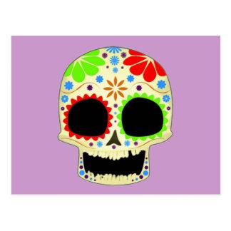 幸せな砂糖のスカルの芸術 ポストカード