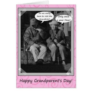 幸せな祖父母の日の祖母の祖父の破裂音 カード