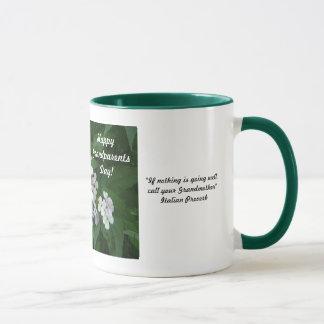 幸せな祖父母日の祖母! -花柄 マグカップ
