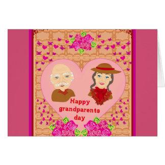 幸せな祖父母日カード カード