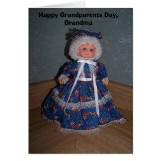 幸せな祖父母日、祖母 グリーティングカード